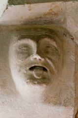 Humourous carved head in the chancel