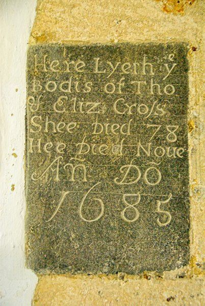 Shipton under Wychwood, St Mary the Virgin photo, Cross memorial (1688)