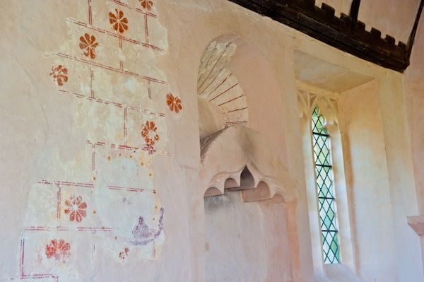 Shorncote, All Saints Church photo, 13th century wall paintings