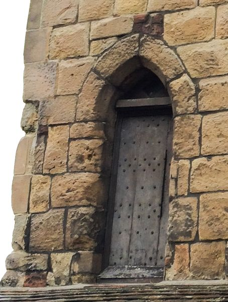 Shrewsbury Town Walls Tower photo, First floor entrance doorway