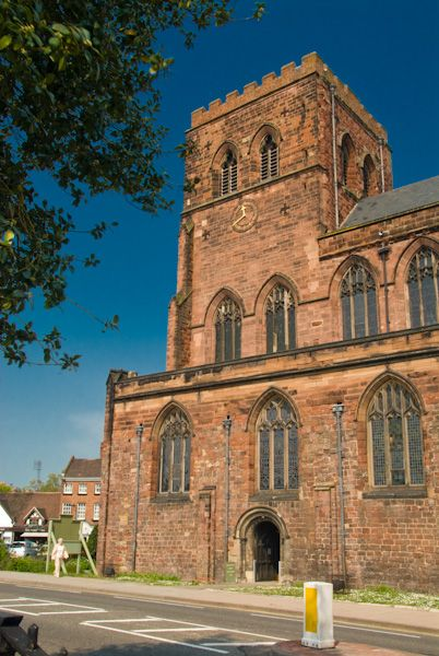 Shrewsbury Abbey photo, West tower
