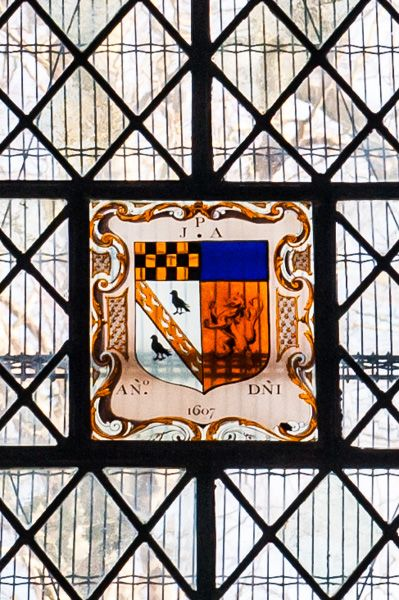 Shrivenham, St Andrew's Church photo, Heraldic stained glass, east window
