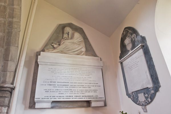 Sigglesthorne, St Lawrence Church photo, 19th c Richardson memorials