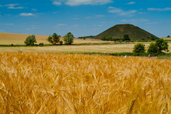 Silbury Hill photo, The Hill in summer