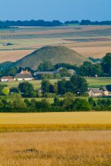 Silbury Hill, The view from West Kennet Long Barrow