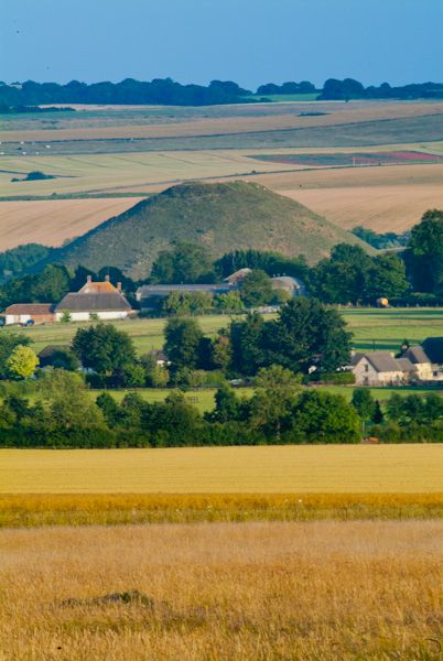 Silbury Hill photo, The view from West Kennet Long Barrow