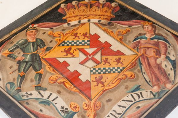 Silchester, St Mary's Church photo, Painted funeral hatchment