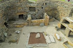 A hearth and hut interior