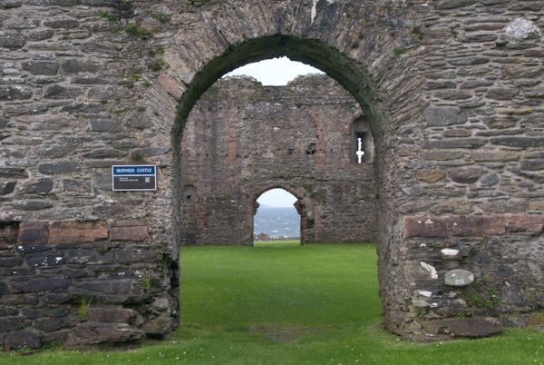 Skipness Castle photo, Castle archway