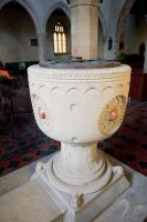Skipsea, All Saints Church, Victorian font