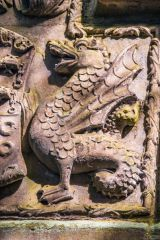 Skipton Castle, Dragon on Clifford crest