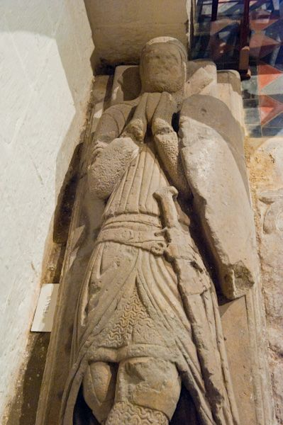 Slingsby, All Saints Church photo, 13th century Wyville effigy