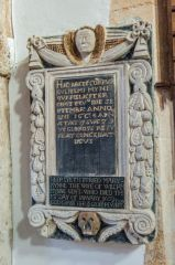 Somerton, St James Church, 17th century Mynn memorial