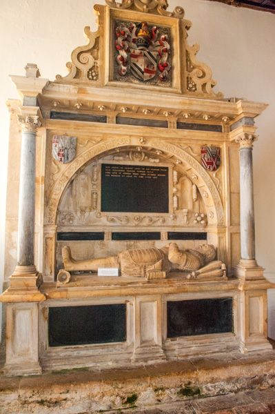 Somerton, St James Church photo, Richard Fermor tomb, 1642