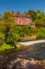 Sorn Castle, The castle from the River Ayr