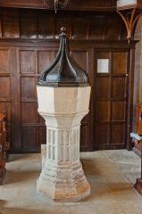 South Leigh, St James the Great, 15th century font