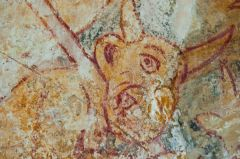 South Leigh, St James the Great, Demon painting