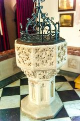 South Molton, St Mary Magdalene Church, The ornate 15th century font