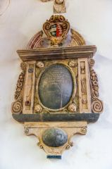 South Molton, St Mary Magdalene Church, Edward Broad memorial, 1684