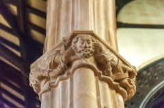 South Molton, St Mary Magdalene Church, Another of the ornately carved nave capitals