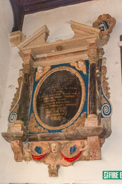 South Molton, St Mary Magdalene Church photo, 1692 gilded wall monument