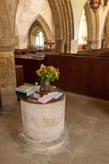 South Newington, St Peter ad Vincula Church, The 13th century font