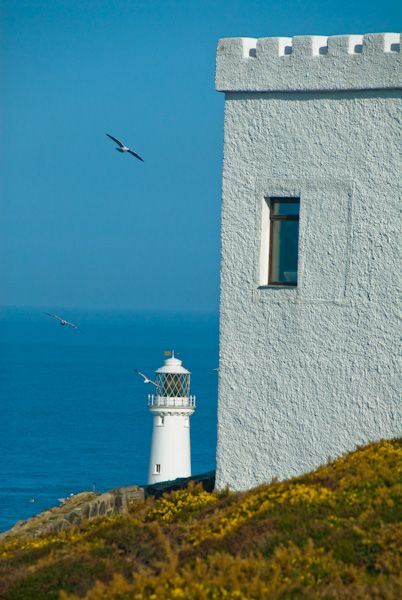 South Stack Lighthouse photo, RSPB Ellin's Tower and lighthouse