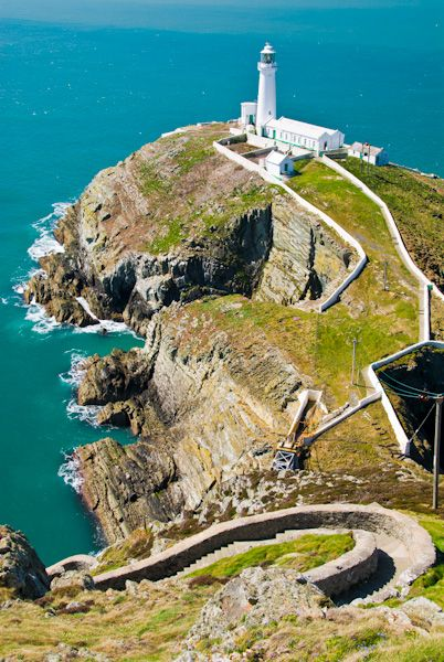 South Stack Lighthouse photo, Steps down to lighthouse
