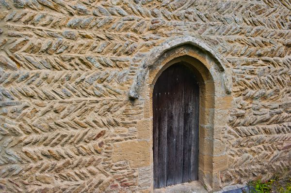 Southrop, St Peter's Church photo, Saxon stonework, south wall