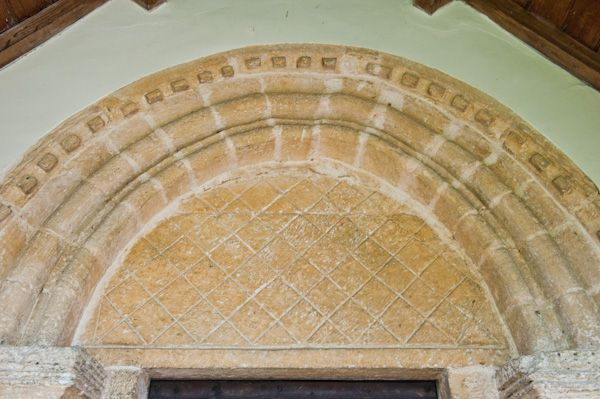 Southrop, St Peter's Church photo, Norman south doorway and tympanum