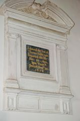 Edmund Keble wall memorial, 1654