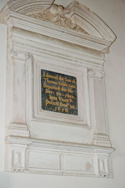 Southrop, St Peter's Church photo, Edmund Keble wall memorial, 1654