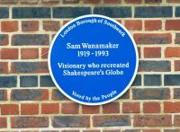 Shakespeare's Globe, Sam Wanamaker blue plaque