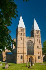 The west front of Southwell Minster