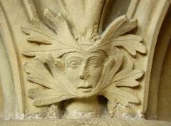 Green man carving in the chapter house (c) Richard Croft