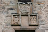 Spynie Palace, David's Tower coats of arms