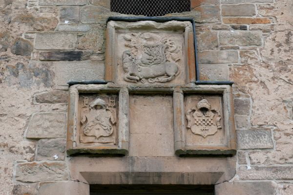 Spynie Palace photo, David's Tower coats of arms