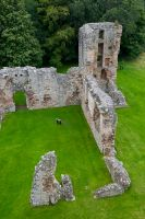 Spynie Palace, East Tower from above