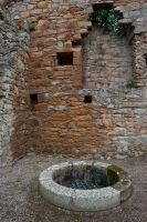 Spynie Palace, North range and well