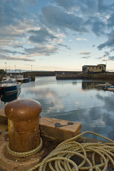 St Abbs photo, Harbour at sunset