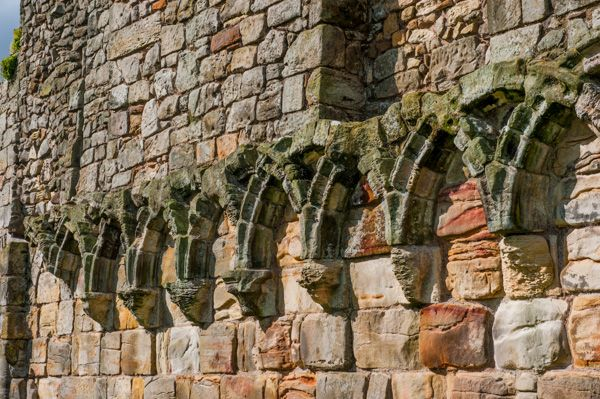 St Andrews Cathedral and St Rule's Tower photo, Blind arcading in the abbey church