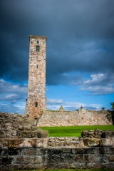 Storm clouds over St Rule's Tower
