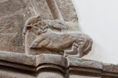 Saxon carving of a beast