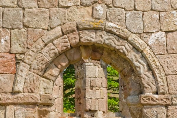 St Blane's Church photo, Romanesque arch