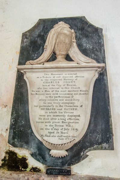 St Briavels, St Mary's Church photo, Charles Court memorial, 1819