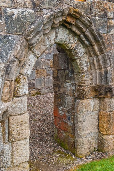 Douglas, St Brides Church photo, Medieval doorway arch