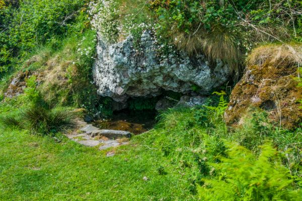 St Columba's Chapel, Holy Well, & Footprints photo, The holy well, or 'Priest's Well'