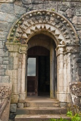 Romanesque entrance doorway