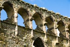 Roofless 14th century arcading