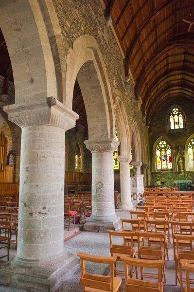 St Germans Priory Church photo, Nave and south aisle
